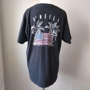 O'Neill American Flag Surf Board Men's T-Shirt M